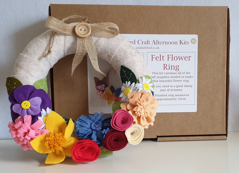 Craft Afternoon Kit - Felt Flower Ring