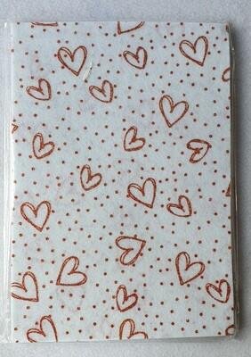 Craft felt. 10 sheet pack with glitter effect. White.