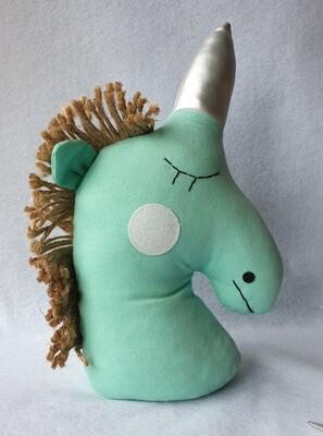 Unicorn Head door stop - Turquoise