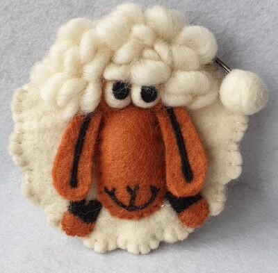 Gringo Wool Felt Purse - White Sheep