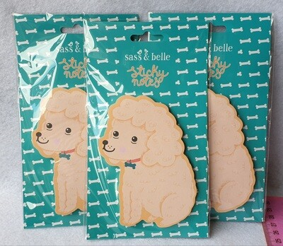 Sass & Belle sticky notes. 3 packs. Dogs