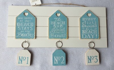 Seaside themed Key hooks and key rings.