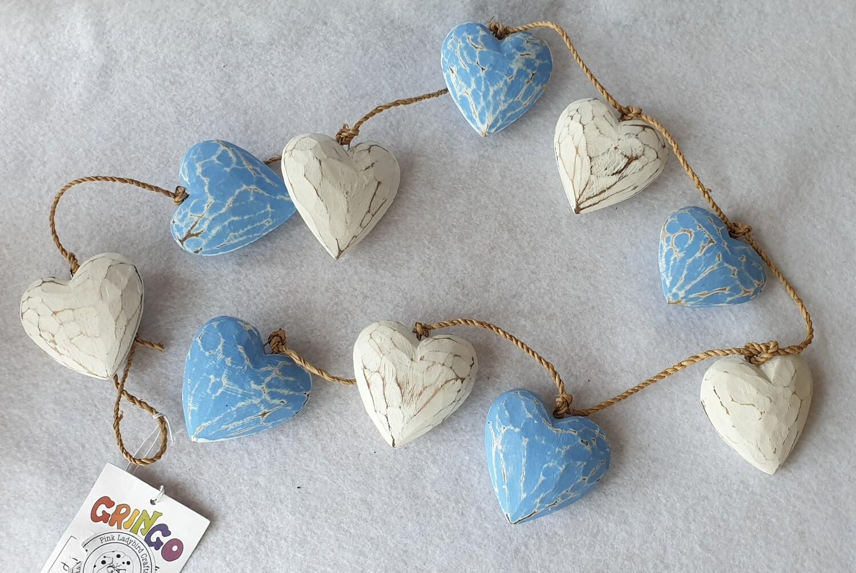 Wooden heart garland - Gringo