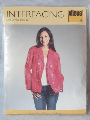 Soft white sew-in interfacing