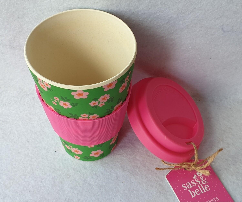 Sass & Belle Boho Fiesta bamboo coffee cup.