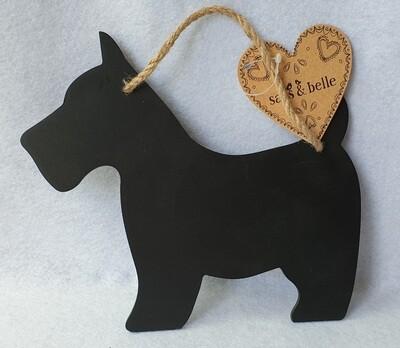 Small Westie dog chalk board. Sass & Belle