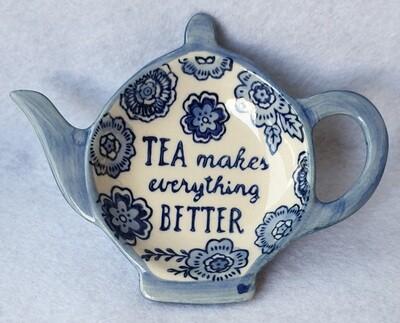 Sass & Belle tea bag dish. 'Tea makes everything better'