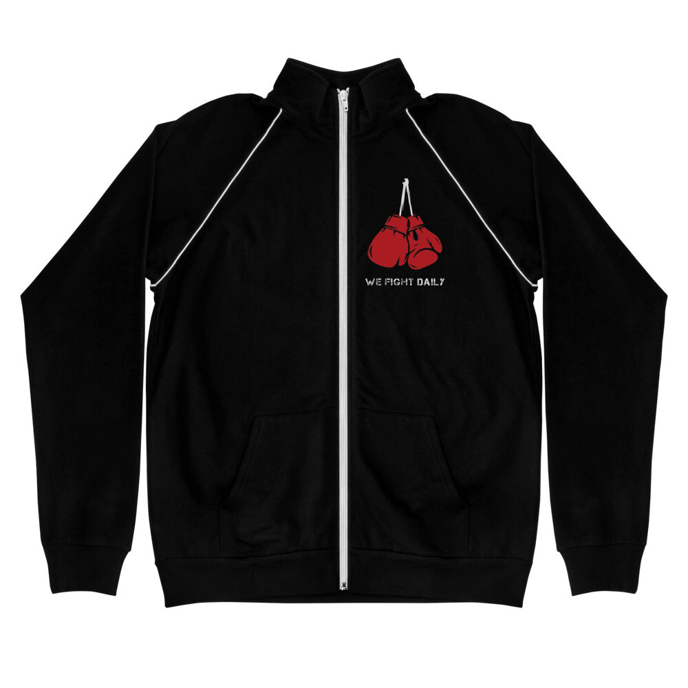 We Fight Daily Piped Fleece Jacket