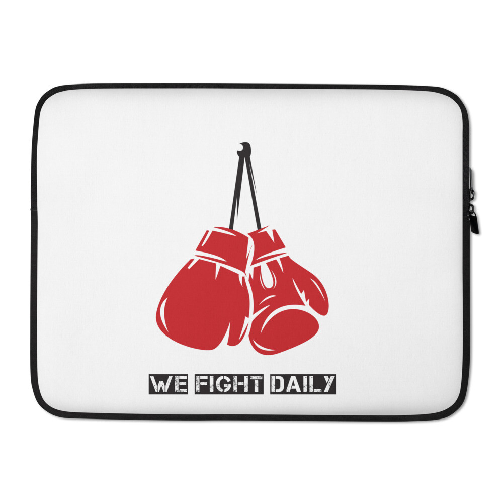 We Fight Daily Laptop Case