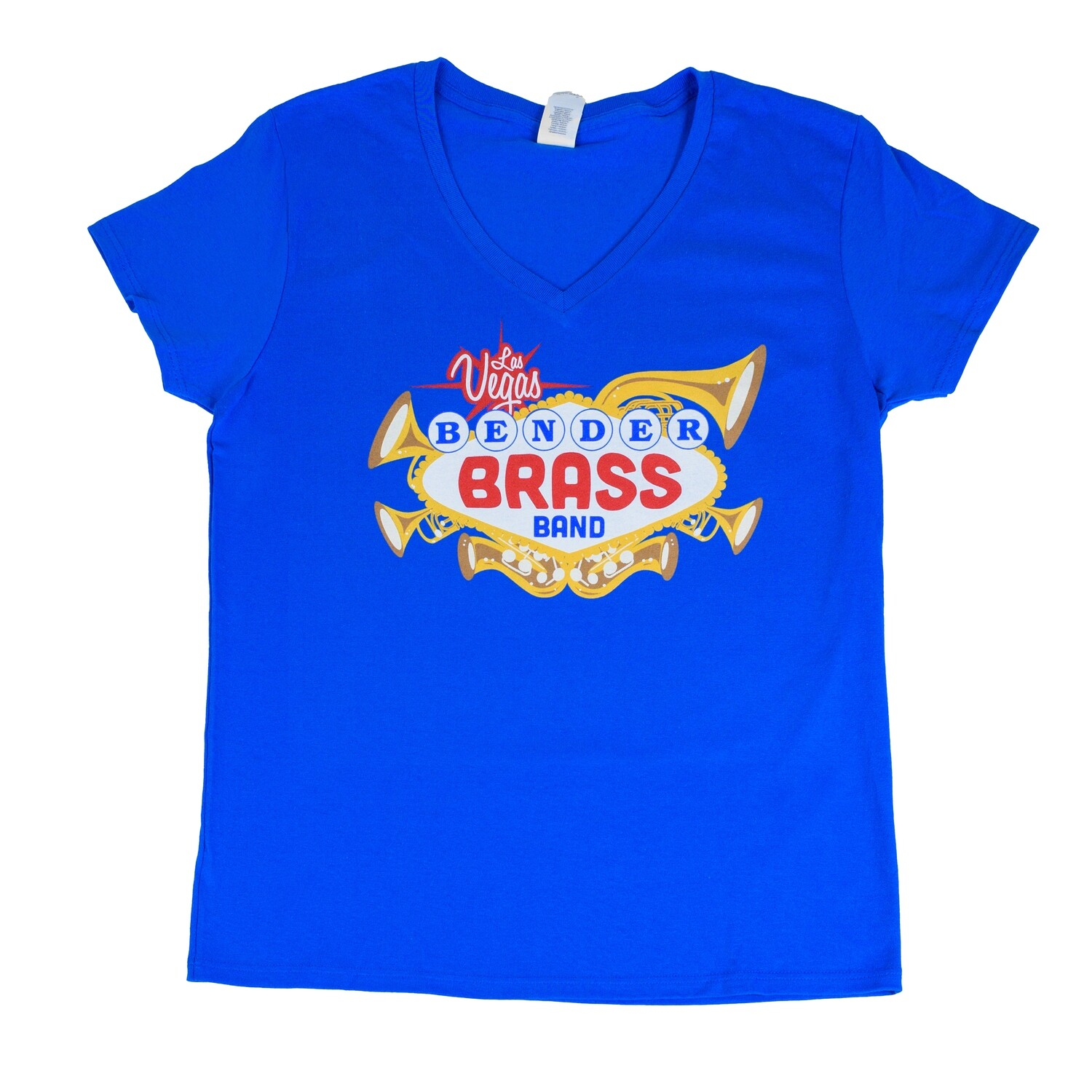 2019 Bender Brass Ladies Cut V-Neck, Royal Blue