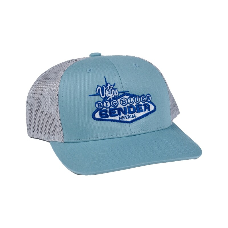 Logo Mono Tone Blues Mesh Fitted Cap