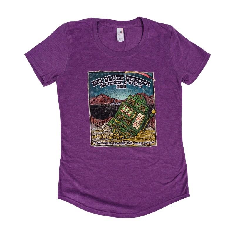2016 Poster Image Ladies Cut T-Shirt, Purple