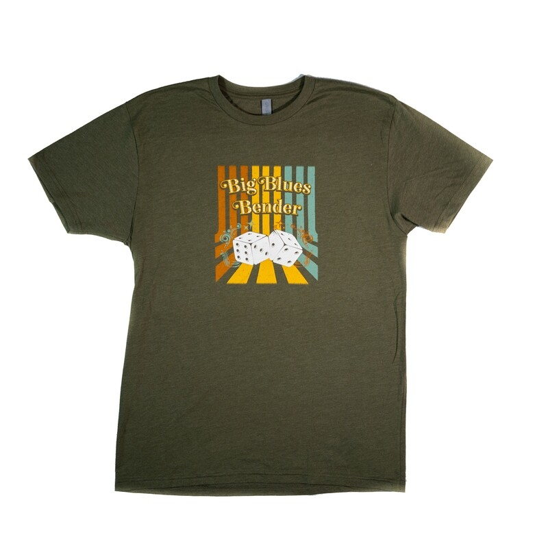Dice T-shirt, Heather Military Green
