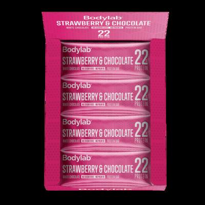 Bodylab Protein Bar - Strawberry & Chocolate (12x65 g)