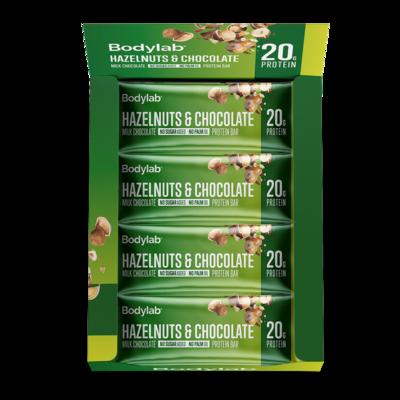 Bodylab Protein Bar - Hazelnuts & Chocolate (12x55 g)