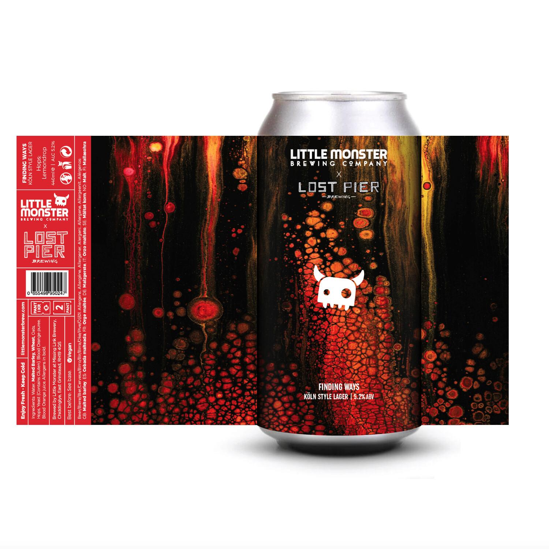 Finding Ways // Little Monster + Lost Pier // Koln Style Lager w/ Blood orange