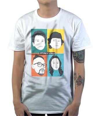 Sponge Cola - Faces (White)