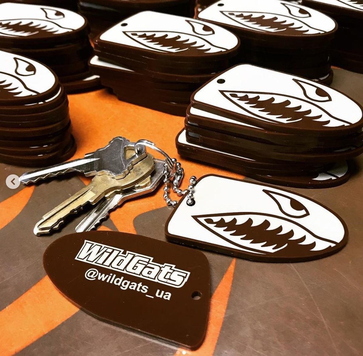 WildGats key chain charms