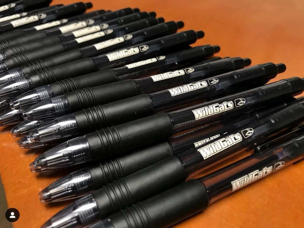 Zebra Ink Gel Pens with the WildGats logo