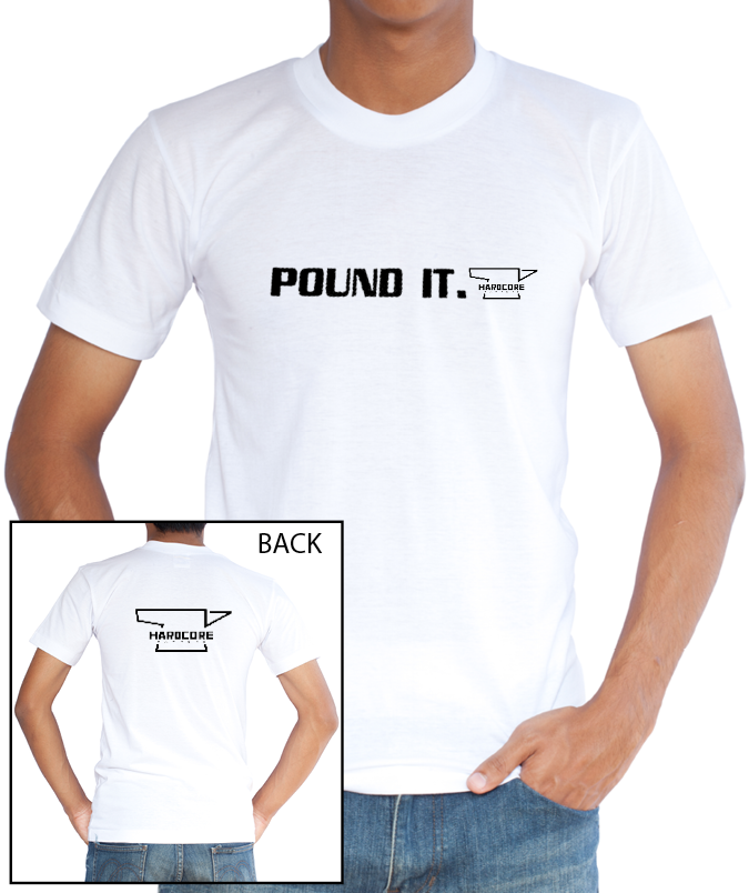 """""""Pound It"""" T-Shirt - White"""