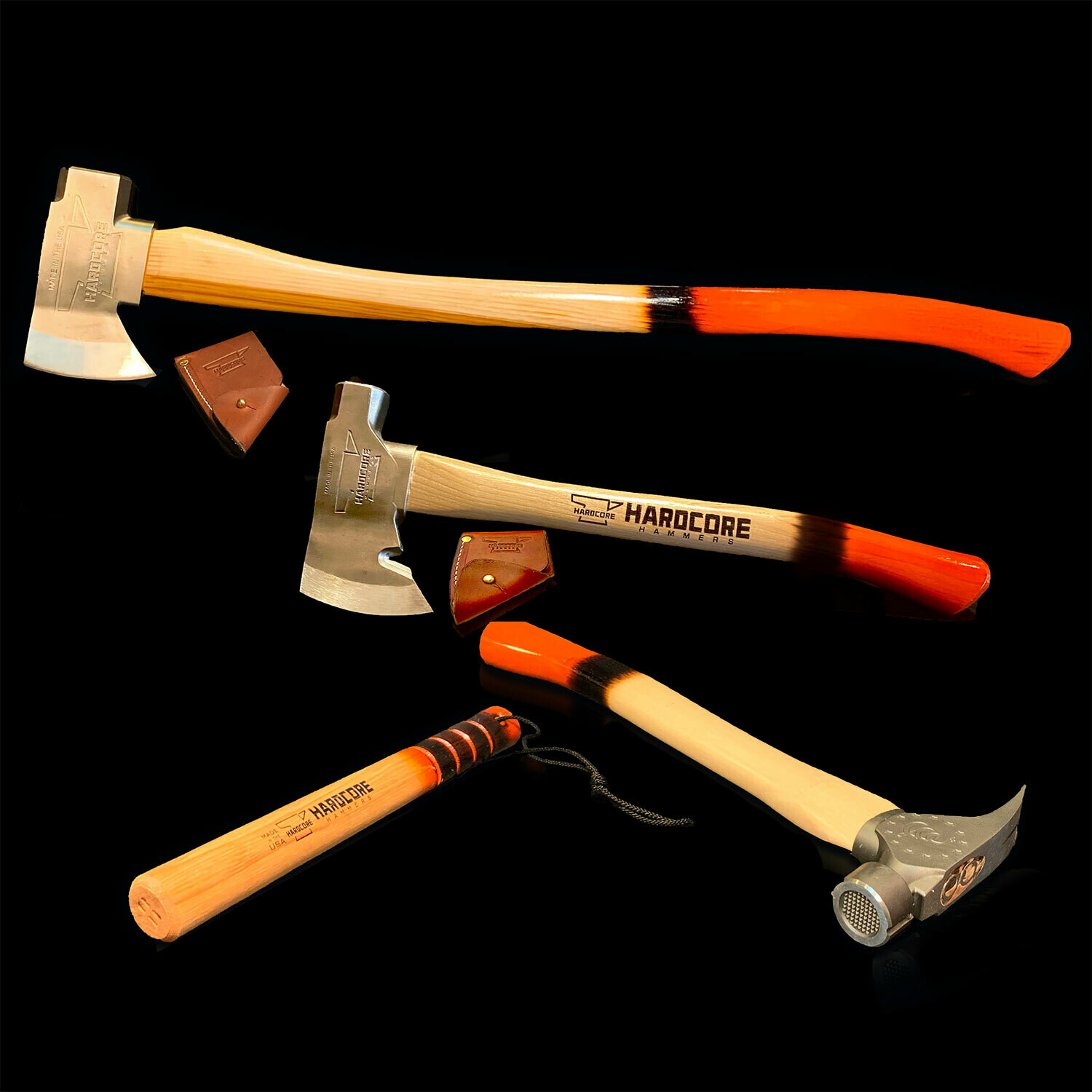 Burnt Orange Bundle - Axe, Hatchet, Thumper, Hammer