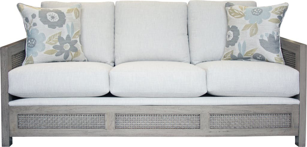 Caned Beach QUEEN SLEEPER Sofa