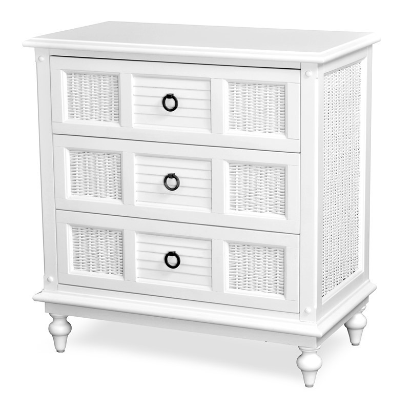 Key West 3 DRAWER CHEST Cottage White