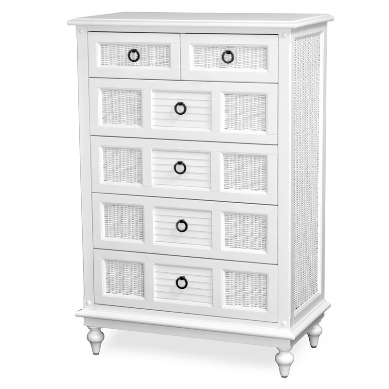 Key West 6 DRAWER CHEST Cottage White