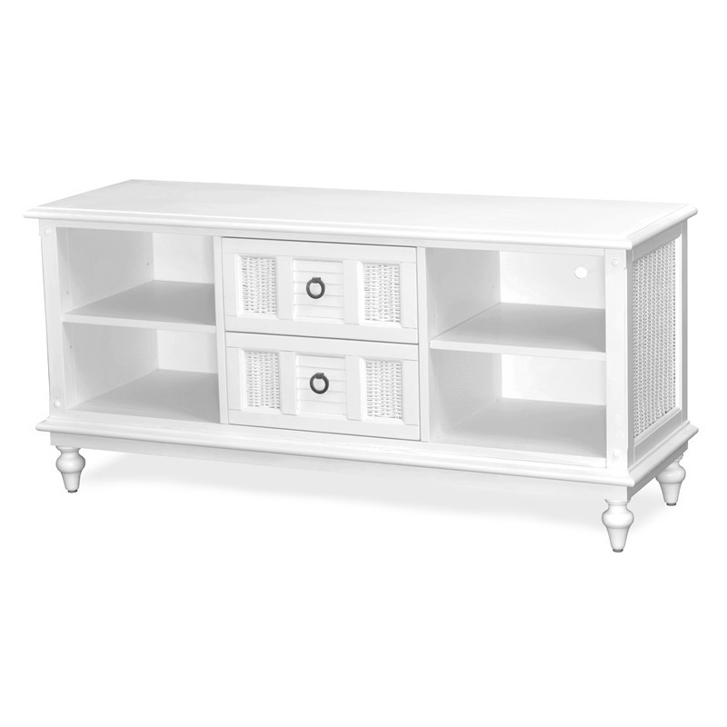 Key West TV CONSOLE Cottage White