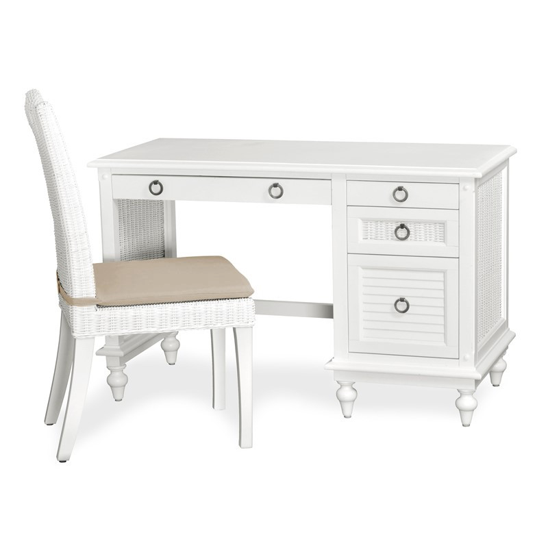 Key West DESK & CHAIR Cottage White