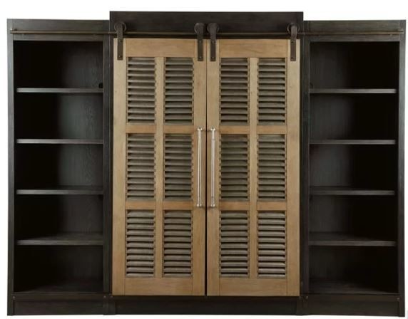 Darcy HOME ENTERTAINMENT CENTER Cobalt Black & Bisque