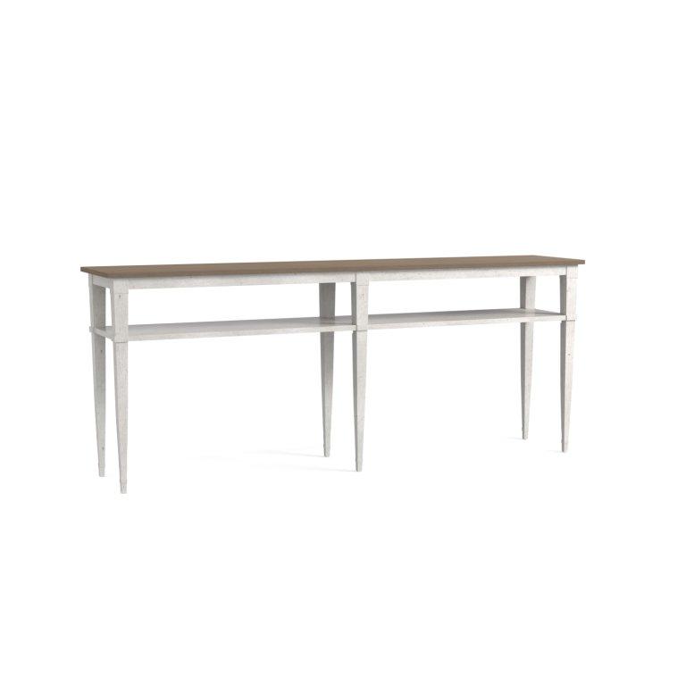 Bella CONSOLE TABLE Aged Whitestone & Warm Grey top