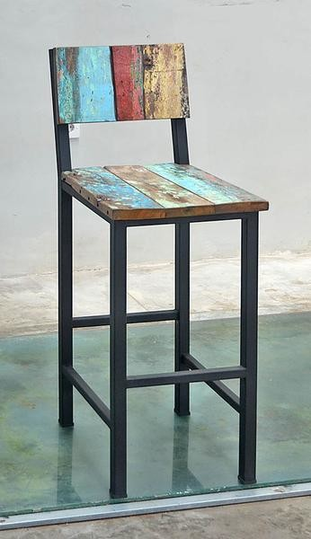 Boatwood STANDARD BAR CHAIR METAL LEG