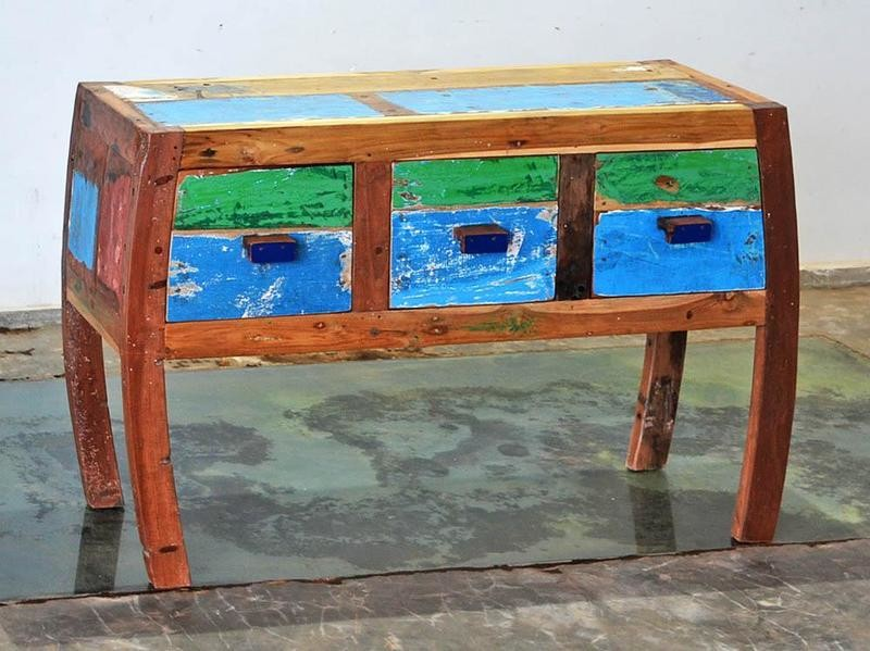 Boatwood 3 DRAWER CONSOLE