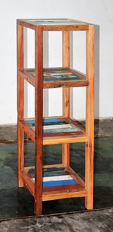 Boatwood BATHROOM RACK 4 SHELF