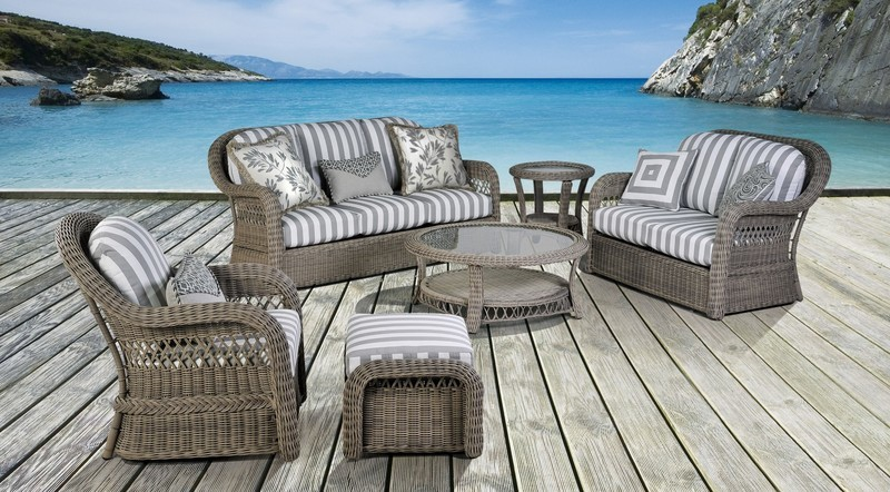Acadia OUTDOOR SEATING COLLECTION Driftwood