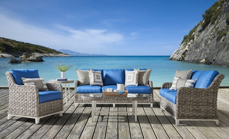 Grande Island OUTDOOR SEATING COLLECTION Soft Granite