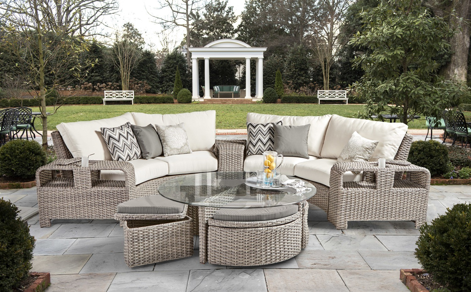 St. Tropez OUTDOOR CURVED SECTIONAL Stone