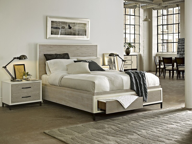 Spencer STORAGE BED COLLECTION Parchment