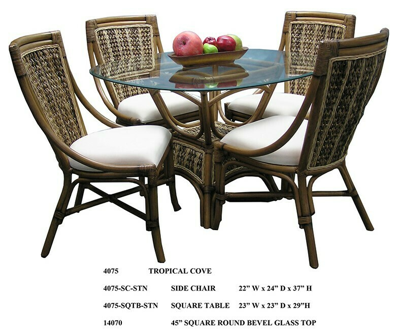 Tropical Cove DINING SET Abaca