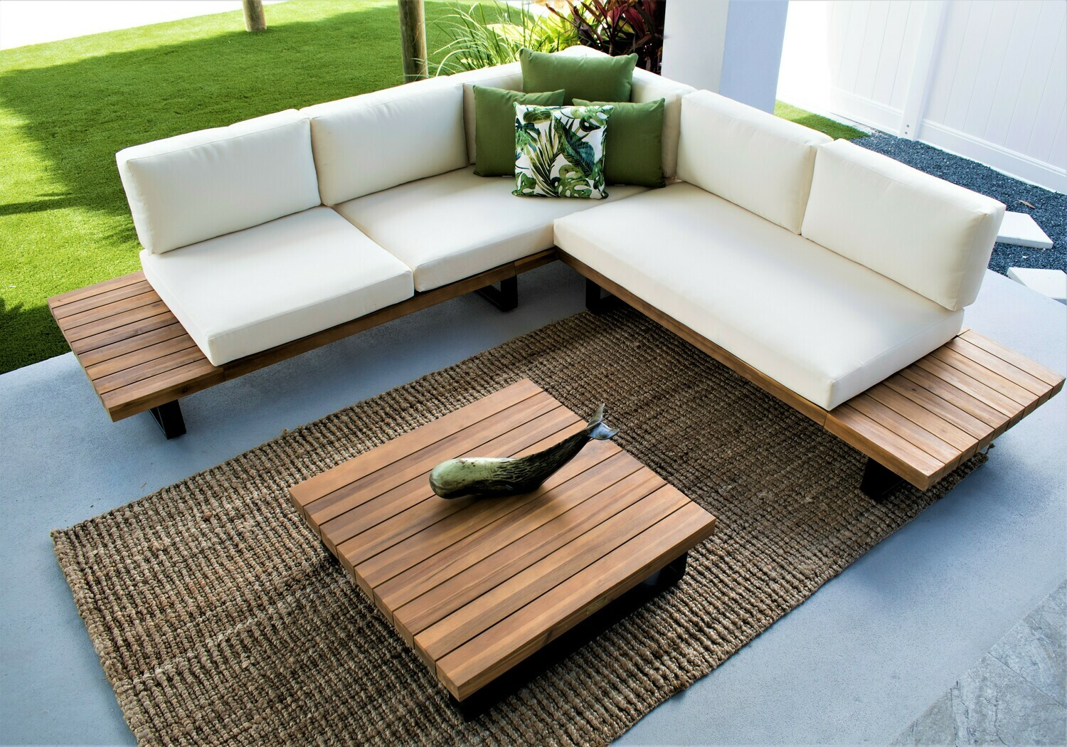 Highbourne Cay SECTIONAL Acacia Wood