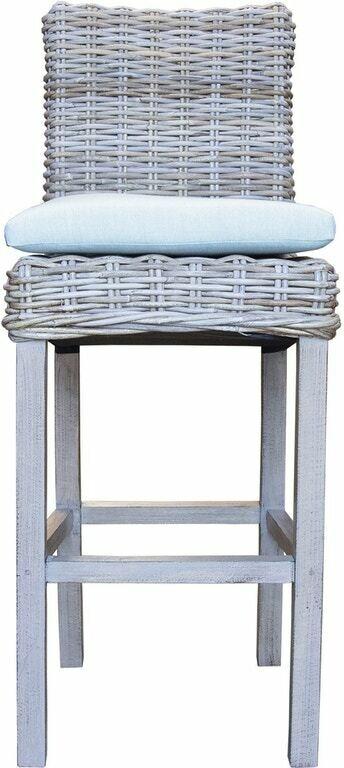 Rattan BAR STOOLS  Grey Wash