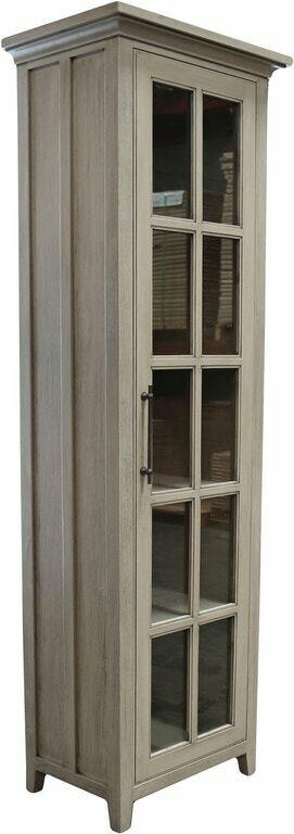 Solid Wood BOOKSHELF Glass Door