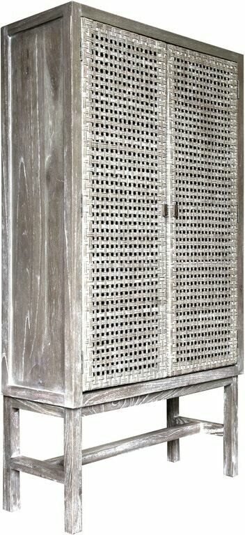 Cane Thatch Woven CABINET Solid Wood
