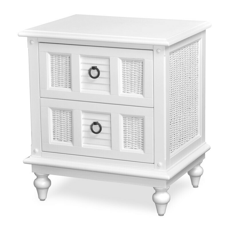 Key West NIGHT STAND Cottage White