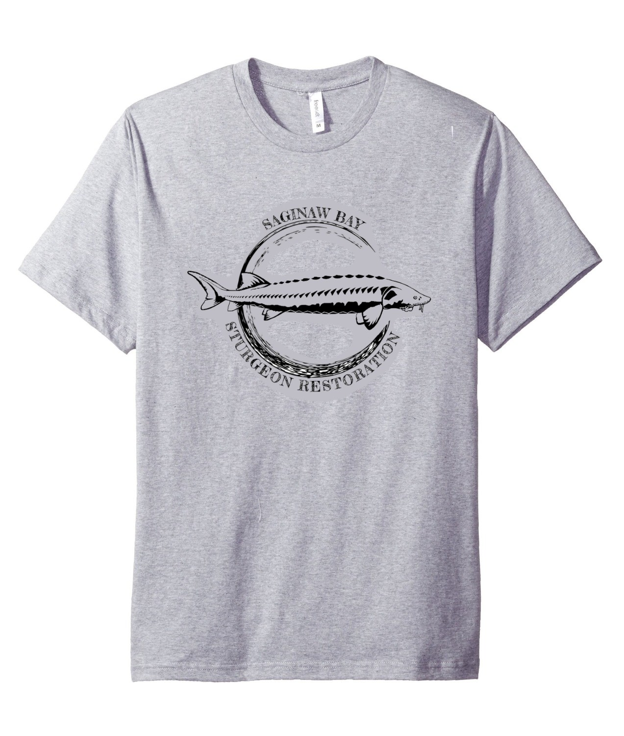 Saginaw Bay Sturgeon Restoration tshirt (with scutes on back!)