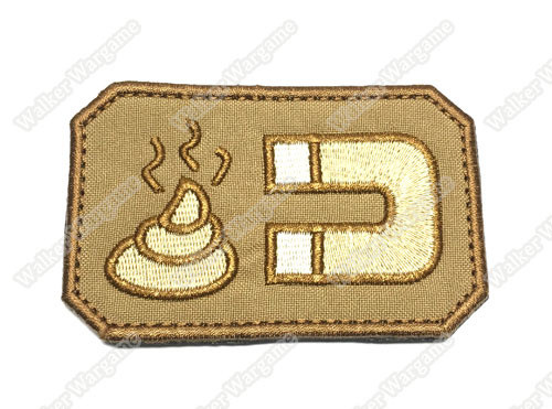 WG039 US Army Chapter Morale Patch Shit Mission Patch With Velcro - Tan Colour