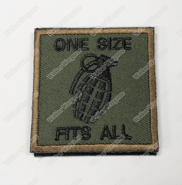 WG098 One Size Fit All Chapter Morale Patch With Velcro - OD Green Colour
