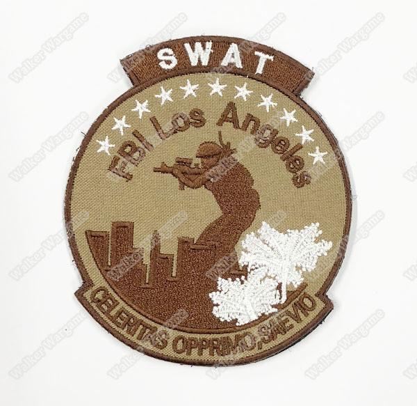 WG103 FBI Los Angeles SWAT Unit Patch With Velcro - Tan Colour