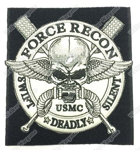 WG003 USMC US Marine Force Recon Patch With Velcro - Full Colour